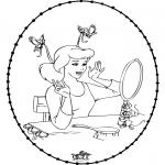 Broderkort - Stitchingcard Cinderella