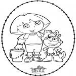 Broderkort - Stitchingcard Dora