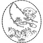 Broderkort - Stitchingcard - Dora
