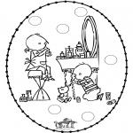 Broderkort - Stitchingcard Jip and Janneke