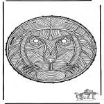 Broderkort - Stitchingcard lion