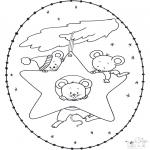 Broderkort - Stitchingcard little mous
