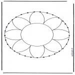 Broderkort - Stitchingcard mandala 1