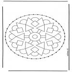 Broderkort - Stitchingcard mandala 2
