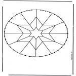 Broderkort - Stitchingcard mandala 5