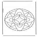 Broderkort - Stitchingcard mandala 7