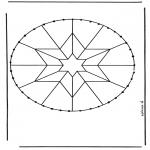 Broderkort - Stitchingcard mandala 8