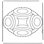 Broderkort - Stitchingcard mandala 9