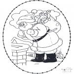 Broderkort - Stitchingcard santa