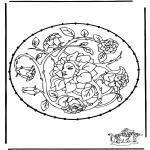 Broderkort - Stitchingcard spring