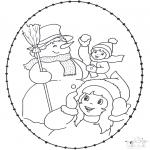 Broderkort - Stitchingcard winter