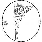Broderkort - Stitchingcard Winx 2
