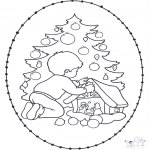 Broderkort - Stitchingcard x-mastree