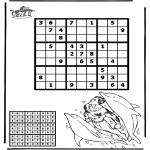 Kreativitet - Sudoku dolphin