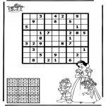 Kreativitet - Sudoku snow white