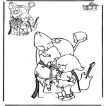 Pricking cards - Teken af Sint
