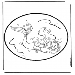 Pricking cards - The little  Mermaid