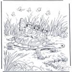 Dyr - Turtle with elf