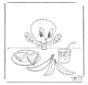 Tweety eats