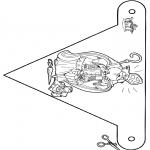 Pricking cards - Vlaggetje Sint 3