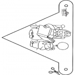 Pricking cards - Vlaggetje Sint 4