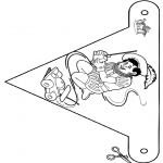 Pricking cards - Vlaggetje Sint 5