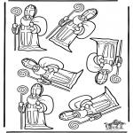 Pricking cards - Welke Sint is anders