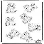 Kreativitet - Whichone is different 101 Dalmatians