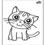 Kreativitet - Window color cat