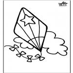 Kreativitet - Window color Kite