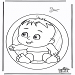 Kreativitet - Window picture baby