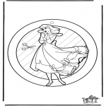 Kreativitet - Window picture Cinderella
