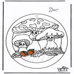 Kreativitet - Window picture Fungus