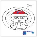 Kreativitet - Window picture - Hamster 2