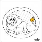 Kreativitet - Window picture Lion
