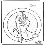 Kreativitet - Window picture Tarzan