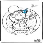Kreativitet - Windowpicture birthday
