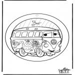 Kreativitet - Windowpicture Cars