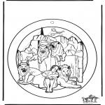 Bibelsk - Windowpicture Daniel