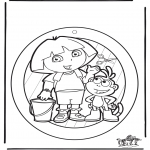 Kreativitet - Windowpicture Dora 1