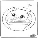 Kreativitet - Windowpicture kitten
