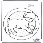 Kreativitet - Windowpicture sheep