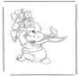Winnie the Pooh like Easter bunny