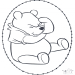 Broderkort - Winnie the Pooh stitchingcard 1
