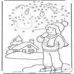 Vinter - Winter number drawing 1