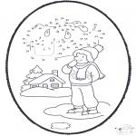 Vinter - Winter prickingcard 1
