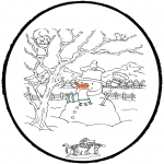 Vinter - Winter prickingcard 4