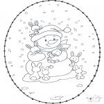 Vinter - Winter sticking card 1