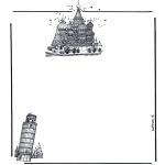 Kreativitet - Writing paper buildings