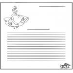Kreativitet - Writing paper Cinderella